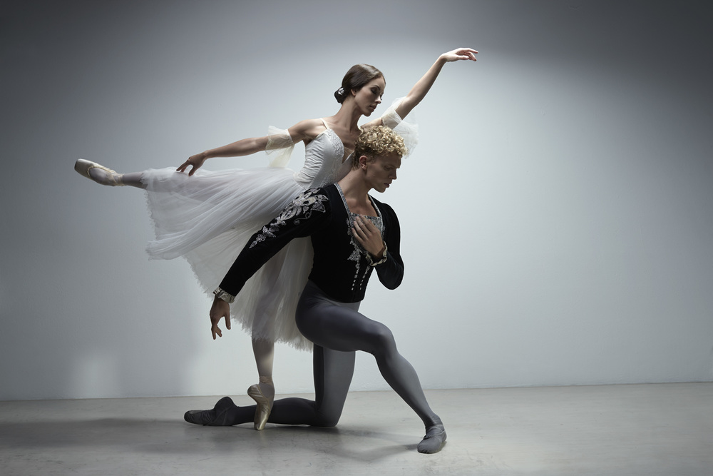 Juliet Burnett as Giselle and Adam Bull as Albrecht