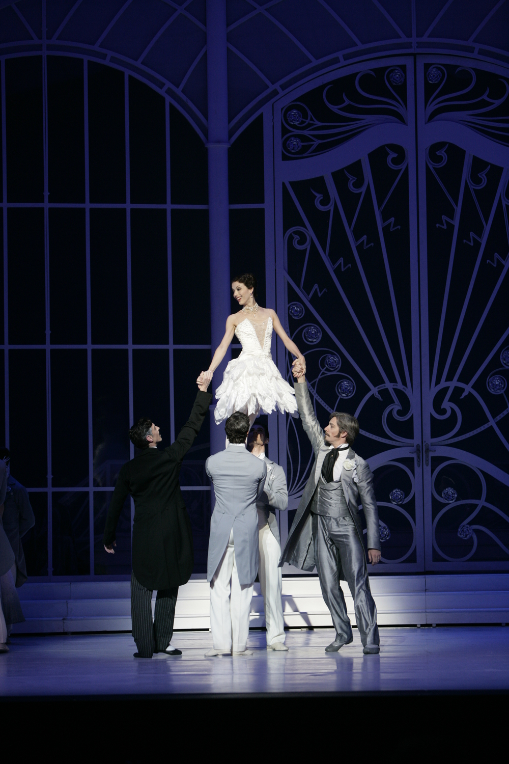 Juliet Burnett as Sophie with artists of The Australian Ballet in Graeme Murphy's The Silver Rose