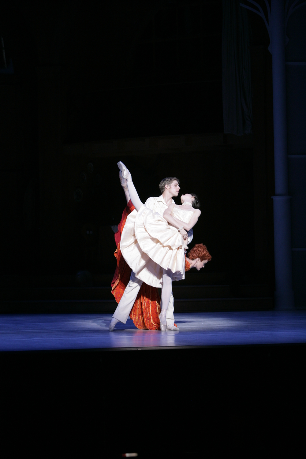Juliet Burnett as Sophie with Ty King-Wall as Octavian and Lucinda Dunn as Marschallin in Graeme Murphy's The Silver Rose