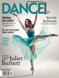 Juliet Burnett on cover of Dance Australia 2014
