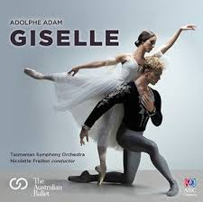 Juliet Burnett and Adam Bull on cover of The Australian Ballet and Tasmanian Symphony Orchestra recording of Adolphe Adam's Giselle