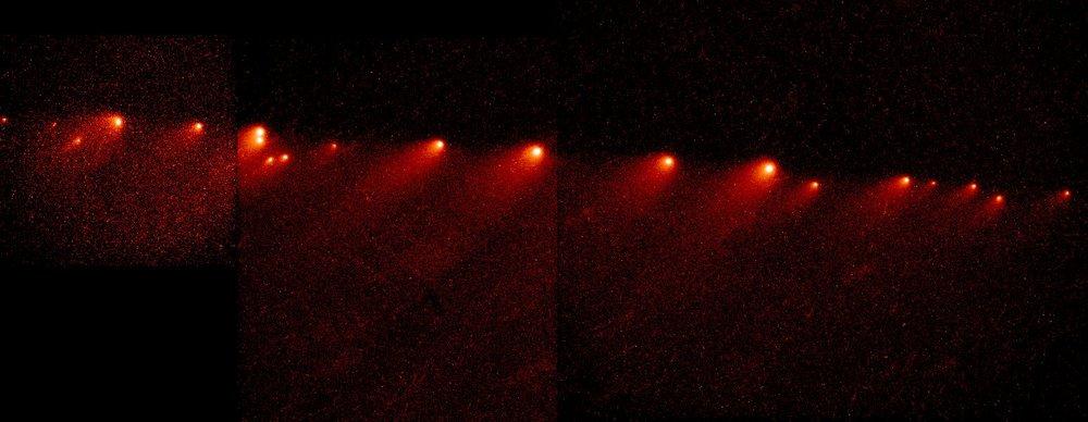 Комета Шумейкеров — Леви 9,представлявшая собой цепочку фрагментов