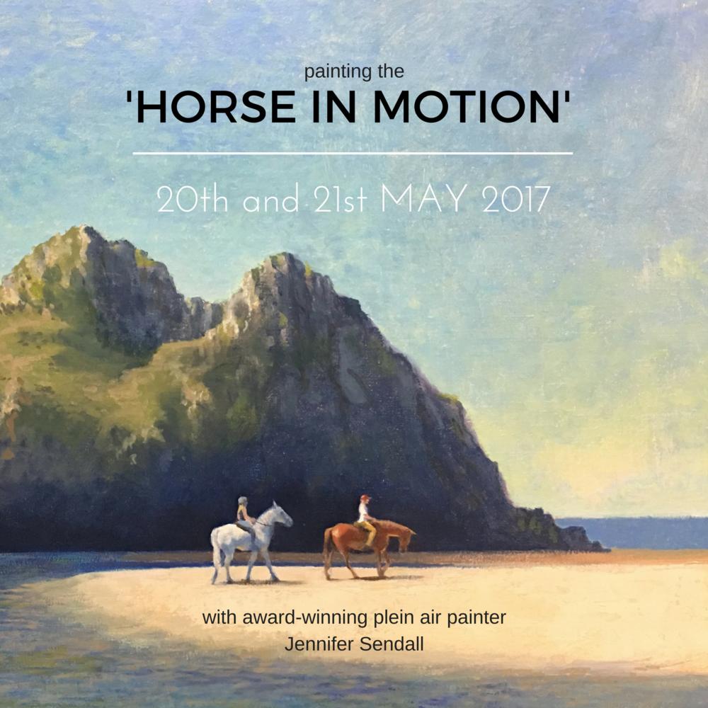 """Two Horses, Three Cliffs"" by Jennifer Sendall"