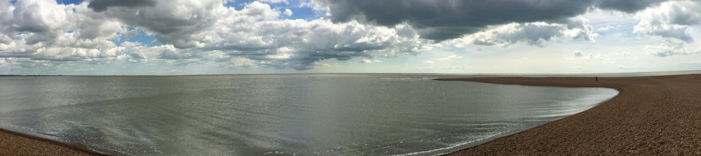 Shingle Street, Panoramic photograph by Jennifer Sendall
