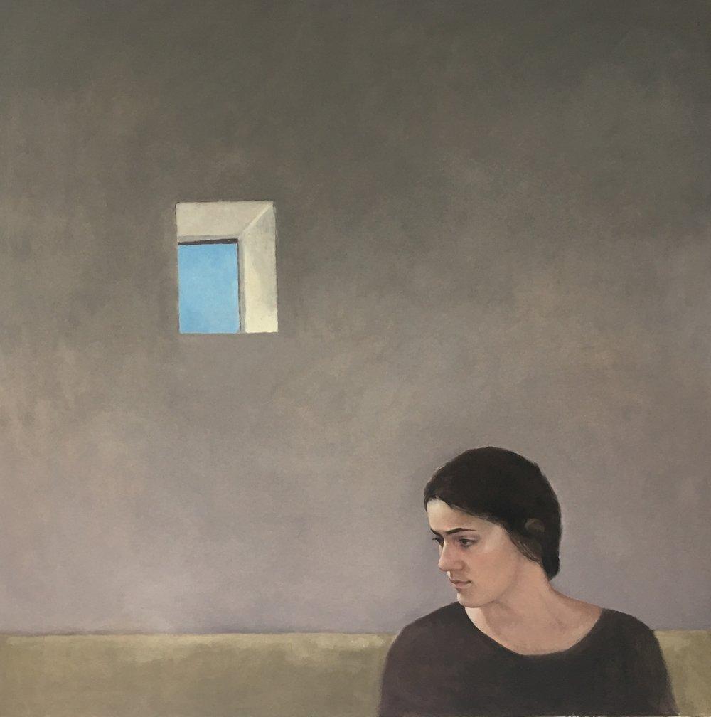 The Atheist, oil, Jennifer Sendall