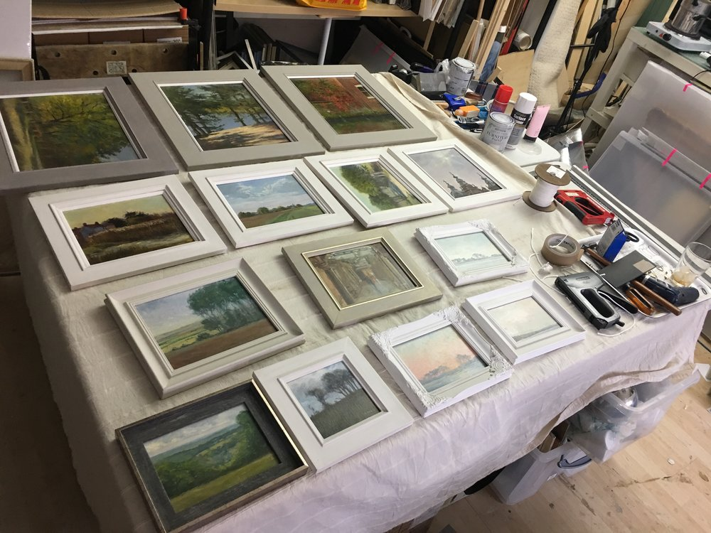 A selection of small plein air work, lots of Norfolk and Suffolk scenes.