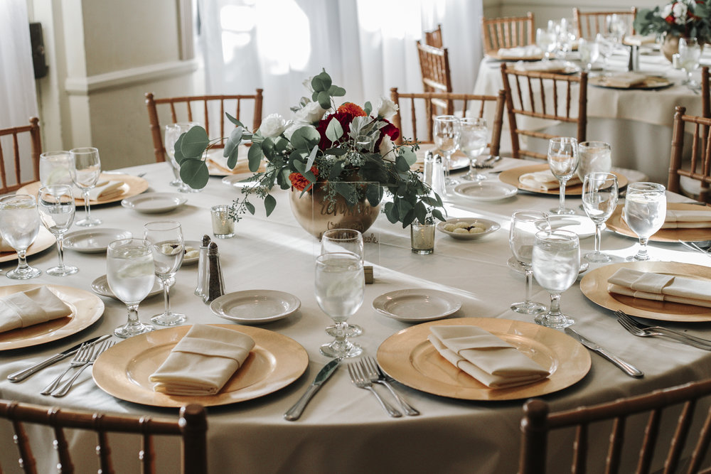 Jennifer and Henry Centerpieces and Tablescape