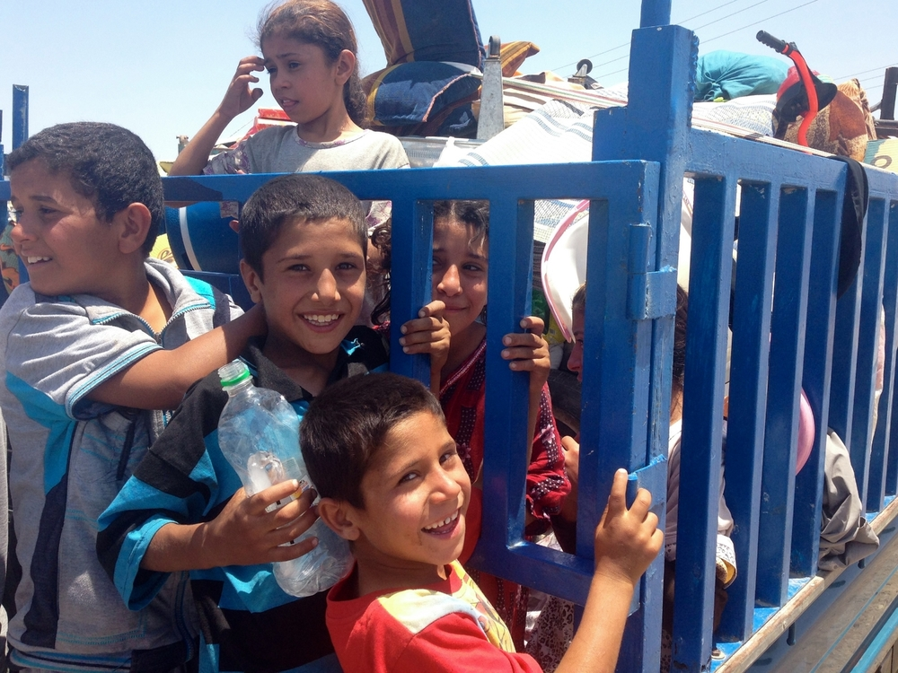 Young Iraqi refugees on the outskirts of the city of Kirkuk. © Ruth Pollard 2014