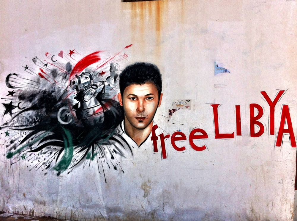 Revolutionary graffiti in the old city of Tripoli, Libya.© Ruth Pollard 2012