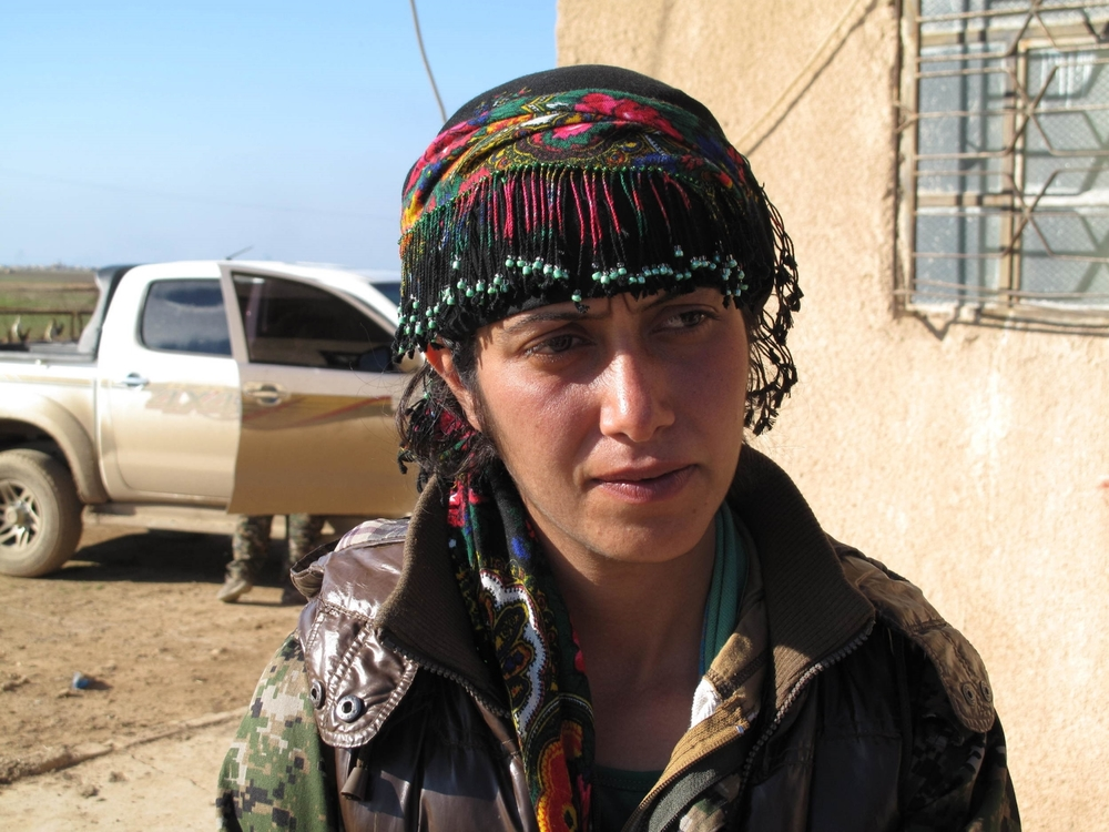 YPG fighter Nishtiman Nishtiman in a village in north-eastern Syria.©Ruth Pollard 2015