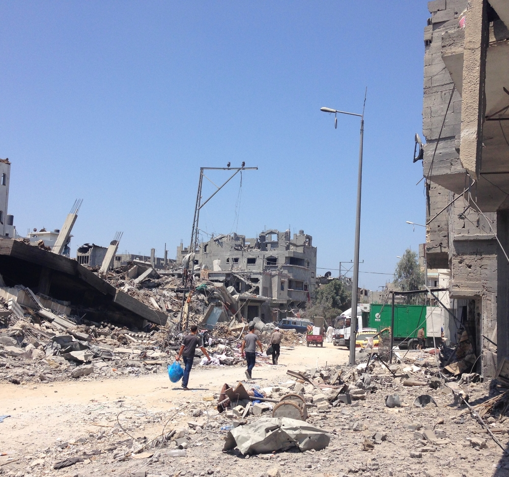The devastation of Shuja'iyeh during the 2014 war with Israel. ©Ruth Pollard 2014