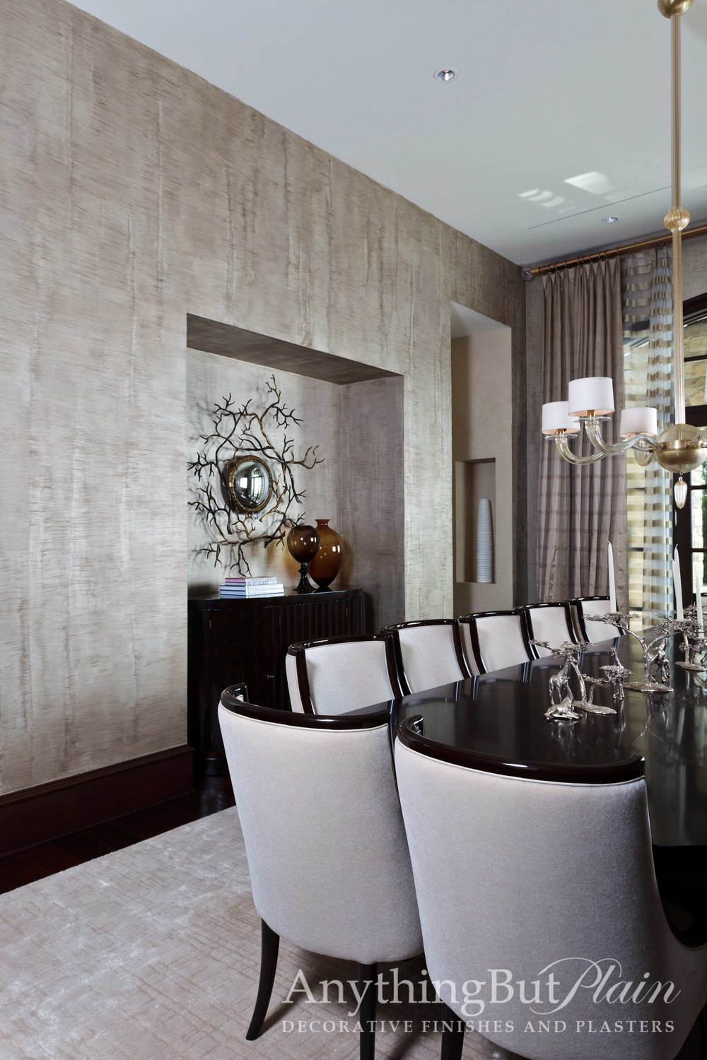 Simulated Silk in Dining Room