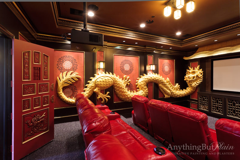 Asian Inspired Theater Room