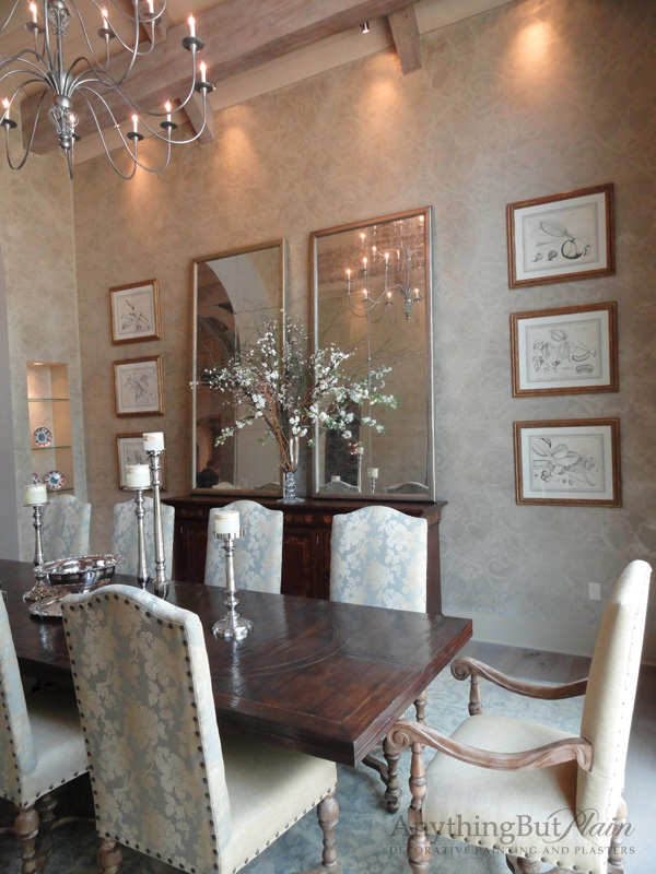 English Manor House 2-Story Dining Room