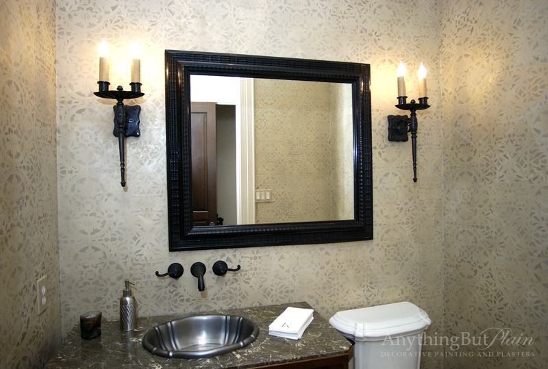 Metallic Plaster with All Over Pattern