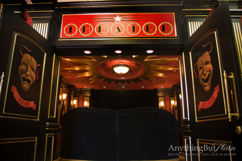 Hand-Painted and Gilded Theater Room