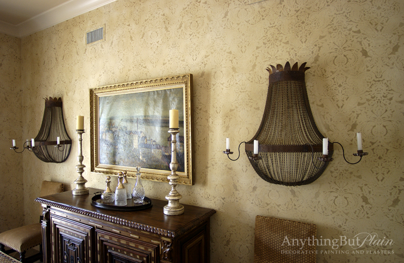 Parisian Finish with Fortuny Pattern
