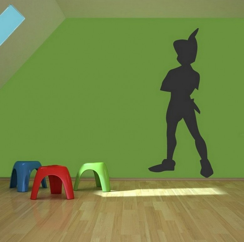 What a clever way to paint a kids room, and we love it in green!