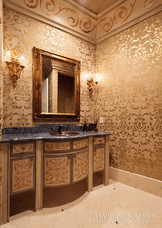 Golden Powder Room