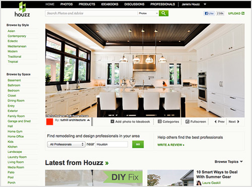 Houzz.com -  A new website for ideas