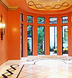Beautiful Orange Venetian Plaster
