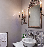 Venetian Plaster Walls with Antique Mirror