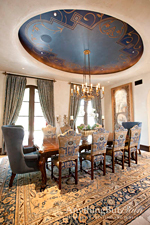 Anything But Plain blue oval dome ceiling