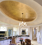 Master Bathroom with Gold Dome Centerpiece