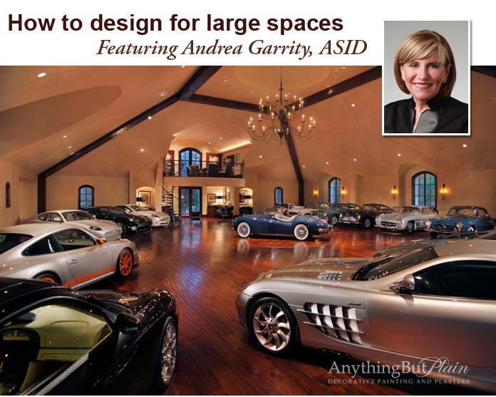 How to design for large spaces, featuring Andrea Garrity