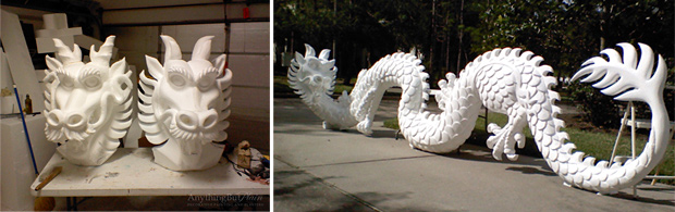 Sculpted Dragons Prior to Finishes