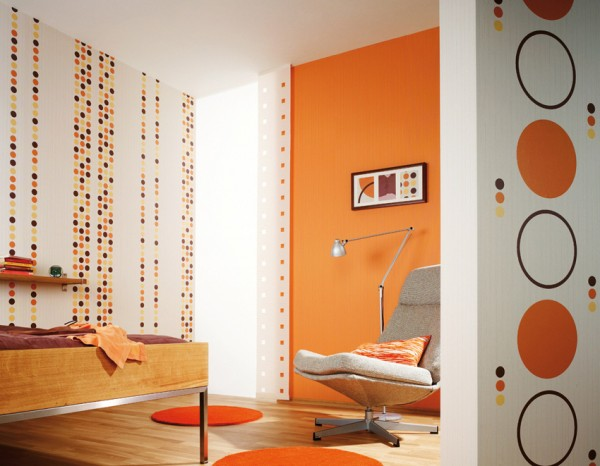 Orange Interior Design Ideas from http://www.interiorholic.com