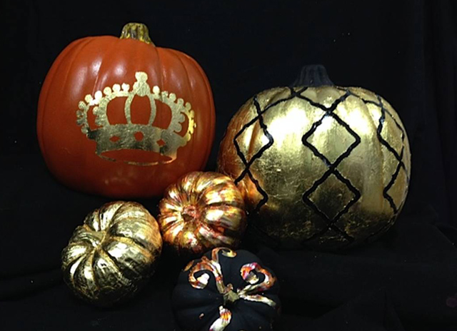 Gilded pumpkins can add a creative twist to your holidays.