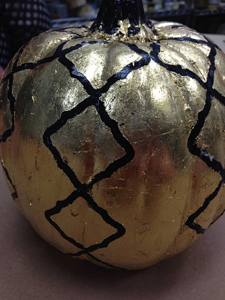 Black pumpkin finished.