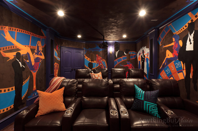 James Bond theme theater room
