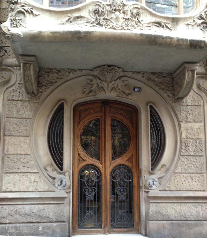Barcelona decorated doorway