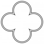 Example of less overlapping quatrefoil