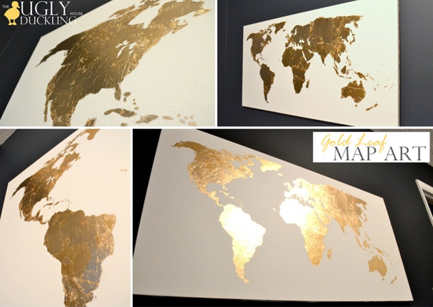 gilded world map themes