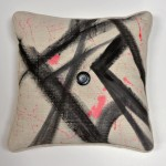 Frieda's Brow - Hand Painted Designer Pillow with Poly Fill Insert