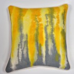 Drizzle - Hand Painted Designer Pillow with 50/50 Down Insert