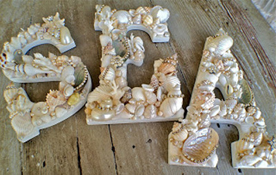 Seashell Covers Letters Summer Mementos