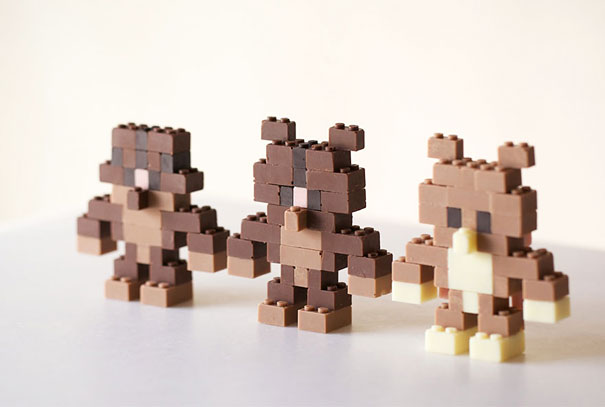 Chocolate Lego Art Sculptures
