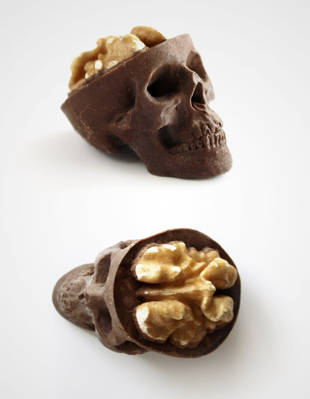 Chocolate Sculpture Skull Art