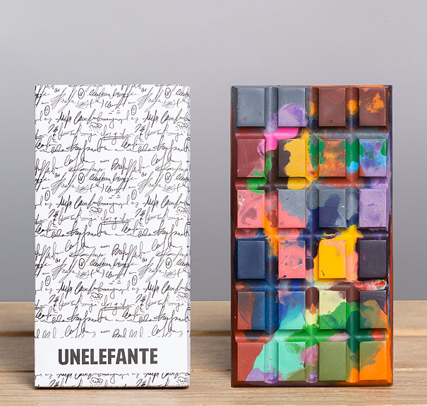 Creatively Painted Chocolate Bars