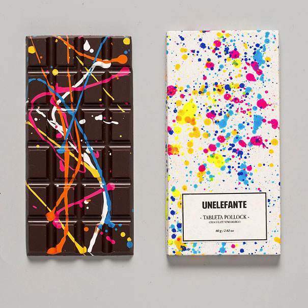 Creative Chocolate Bars Painted