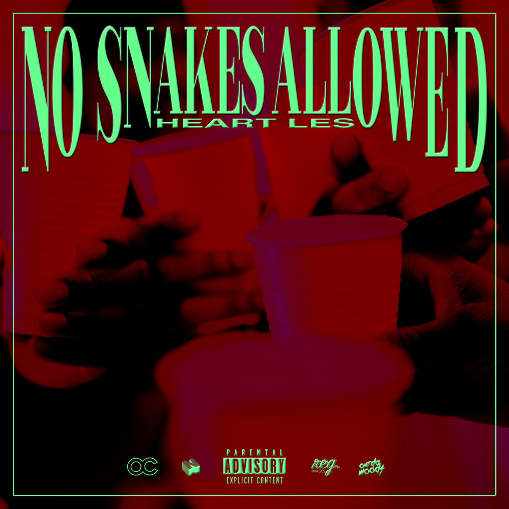No snakes allowed - EP cover artwork for Heart Les