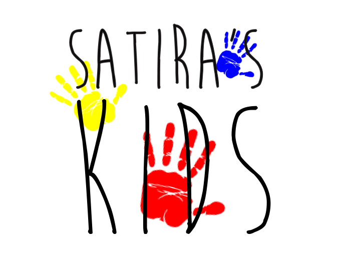 Satira's kids - Logo for Shelika Oliver. She wanted a logo for a foundation she's starting in Jamaica named after her grandmother, Satira. This a freestyle design that the client happened to like after being shown the first draft.