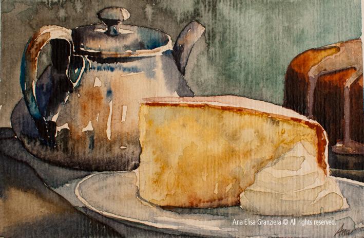 Cake and tea / Chá com bolo