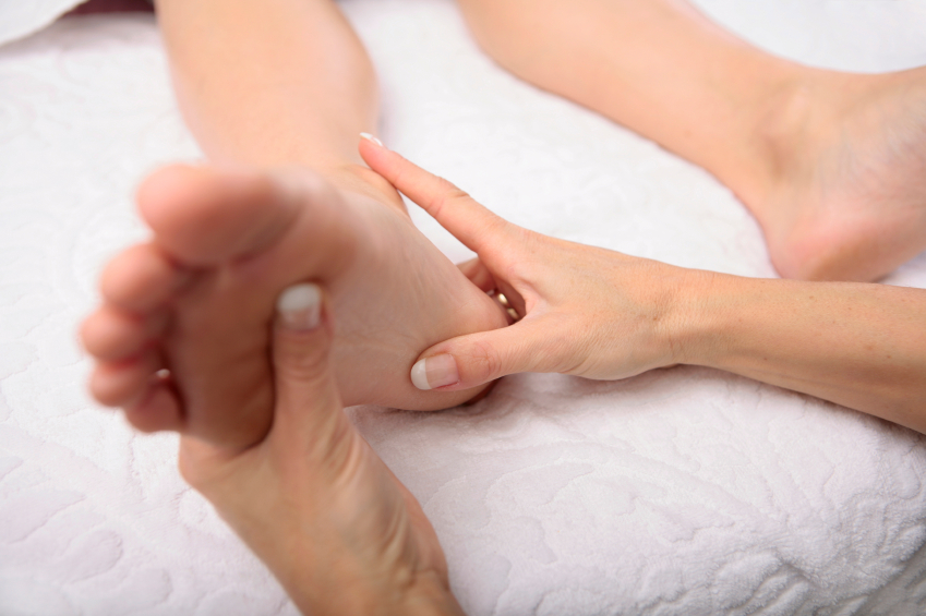 Foot reflexology at Synergy Spa in Acworth, Georgia