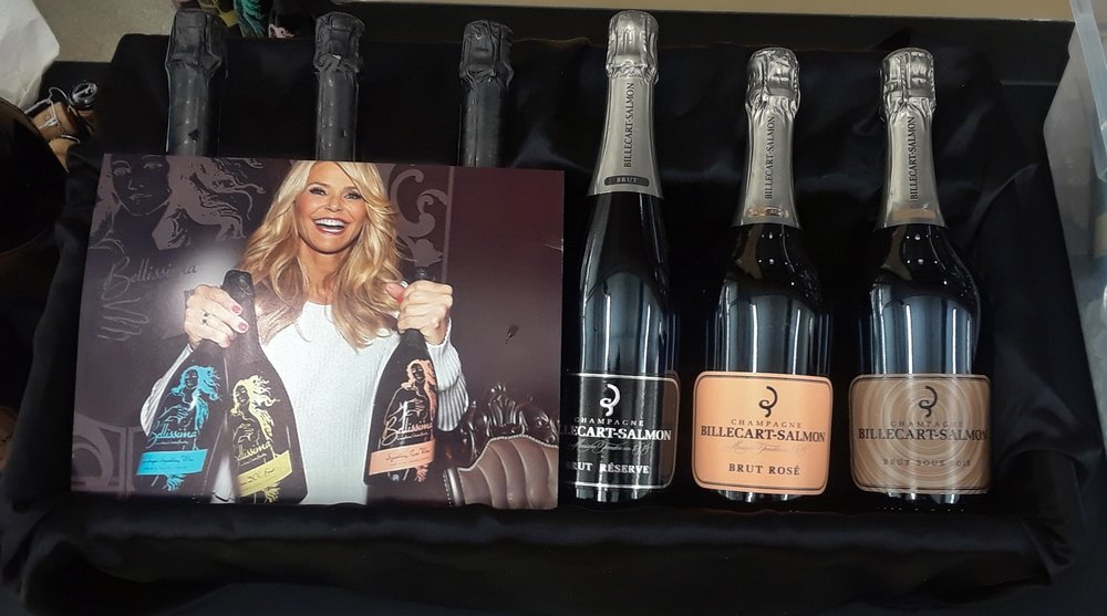 The picture is Christie Brinkley. It covers her new wines called Bellimissia.