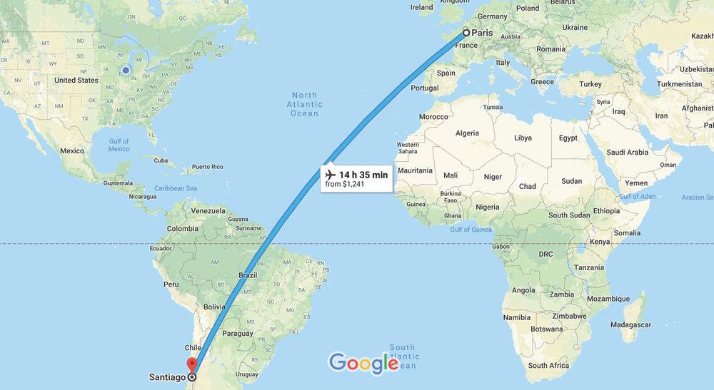 Paris, Île-de-France, France to Santiago - Google Maps.jpg